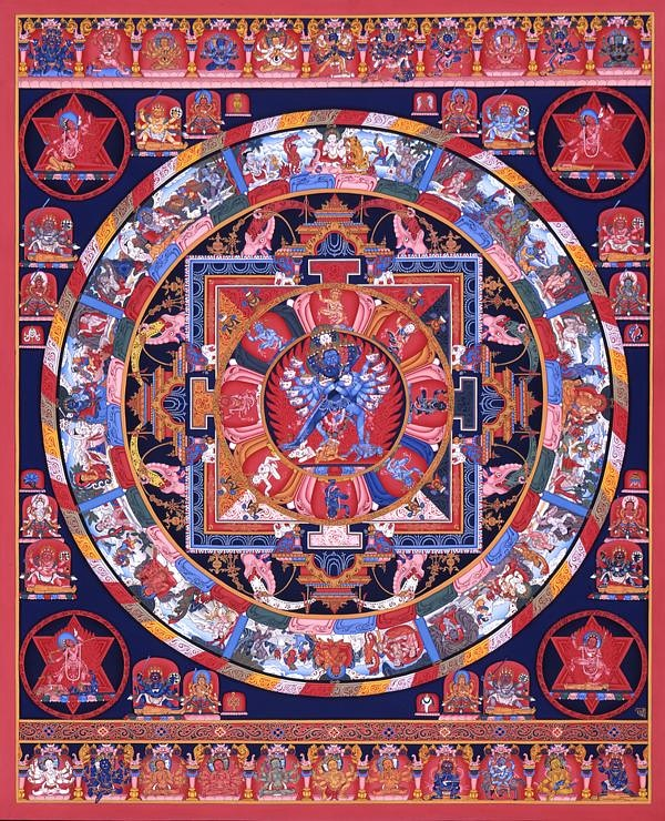 """Hevajra Mandala"" by Lok Chitrakar 1998 Currently in the collection of Fukuoka Asian Art Museum. Now displaying at #GlobalNepaliMuseum  #GNM #VirtualMuseum #Database #NepaliObject  #Nepal #Nepali #NepaliArt #Archive #Museum  For more details please visit:  https://t.co/dCQAQ3v63F https://t.co/GvKnzEFean"