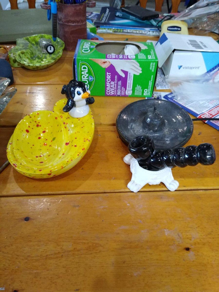 We're working on some new ashtrays and pipe holder's. Follow us on FB @NKOGNEATOPIPES #Hemper #headshop #headshops #PhaserBongs #SmokeShop  #smokeshop #wholesale #stonedgenie #whitecastle #bowl #bonghit #420 #stonerchick #BonoBeauties #gangagodess #happy420 #prettypotheads https://t.co/wpsOqZ8rvj