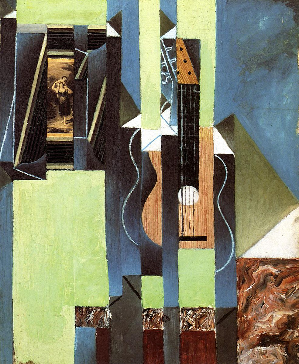 The Guitar, 1913 #spanishart #syntheticcubism <br>http://pic.twitter.com/1zDsUJbanO