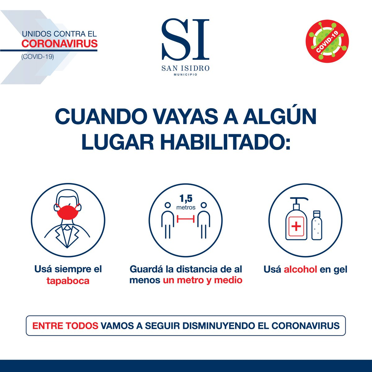 Estas son las cifras de coronavirus en San Isidro al 05/07/20: -Confirmados: 912 -Descartados: 3081 -En estudio: 289 -Recuperados: 243 -Fallecidos: 23 -Activos: 646 https://t.co/nVPe7yikok