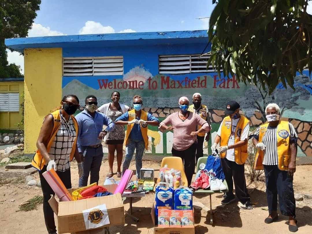 test Twitter Media - Lions Club of Mona President Sharon Hastings along with six Lions (two of which were recently inducted 👏 🦁 ) ended the 2019-2020 Lions year with a donation of school items and toiletries to the Maxfield Park Children's Home. #WeServe https://t.co/E7Fj0BoSfL