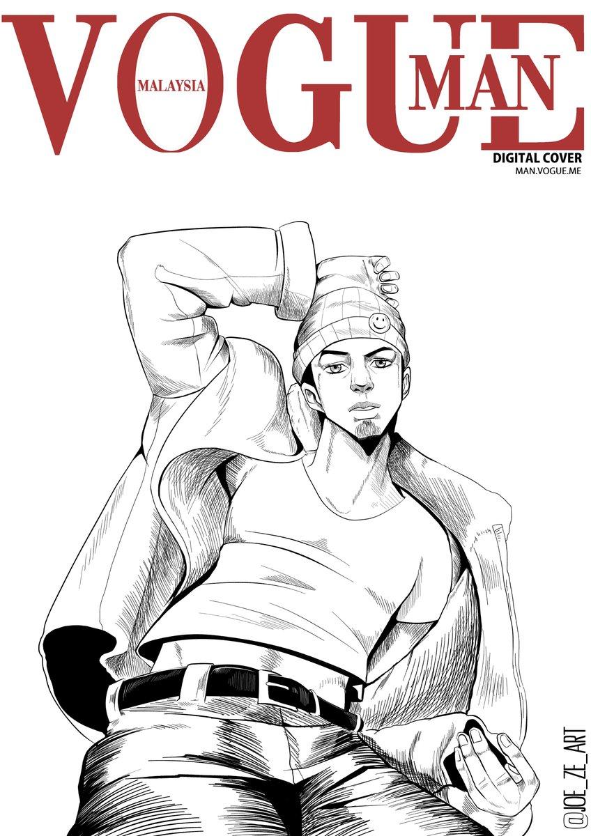 Did a Vogue cover,featuring my OC,Joe,in Jojo-style.  #vogue #oc #jojosbizarreadventurepic.twitter.com/hdY9kdz1Xm