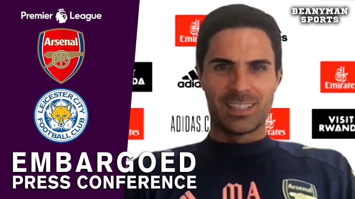 VIDEO - Mikel Arteta EMBARGOED Pre-Match Press Conference - Arsenal v Leicester - Premier League https://t.co/vQf8jvb2lQ PLEASE SHARE! https://t.co/afDj4j034D