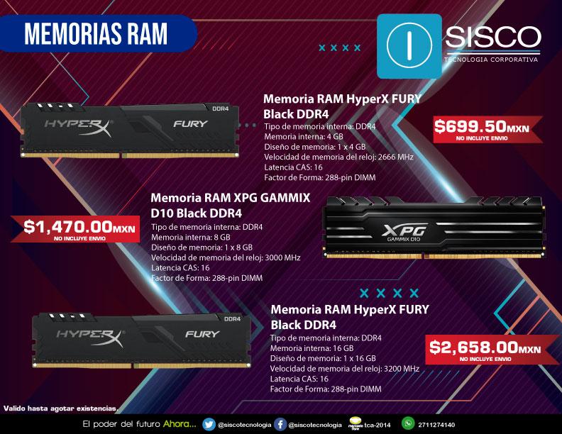 Aumenta la retención de procesos de tu computadora y haz que tenga un máximo rendimiento. 💻⚡🛠️👨🔧 De venta en Sisco Tecnología siscotecnologia.com/tienda/ #Sisco #RAM #Tecnología