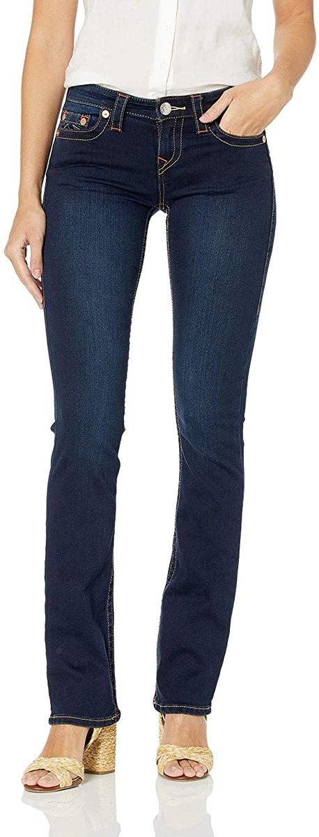 Over 50% Off!!!  True Religion Women's Billie Mid Rise Straight Leg Rinse Jean    #BwcDeals #Deals #dailydeals #DealsAndSteals #fashion