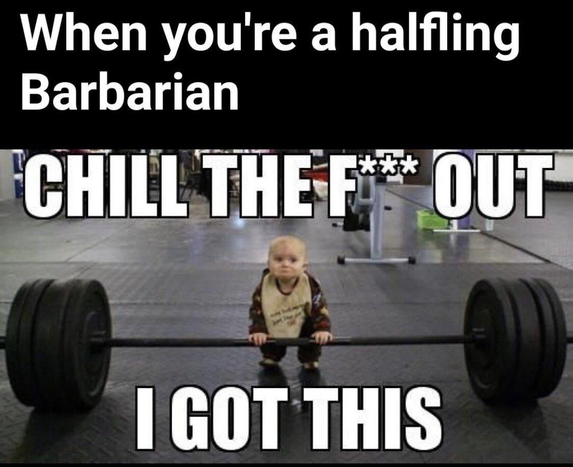 Go little dude!!! #dnd #dungeonsanddragons #menes #funnypic.twitter.com/PbYTObmvOe