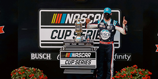 Them: You can't race The Brickyard after a double header at Pocono! @KevinHarvick: Hold my @BuschBeer … Us: Dibs. https://t.co/Pzj3aoc2qL