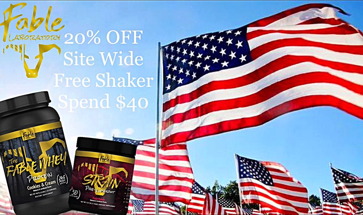Enjoy 20% OFF SITE WIDE ON US, JULY 3-6. FREE SHAKER ON EVERY ORDER OVER $40#gym #gains #f4f #fit #fitness #fitspo #fitfam #swole #shredded #supplements #ifbb #npc #michigannpc #aesthetics #abs #bodybuilding #instafit #muscle #biceps #lift #muscles #gymlife #fitnessjourneypic.twitter.com/MJtosa47TT