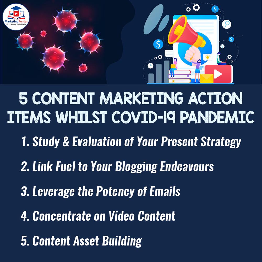 5 Content Marketing Action Items Whilst Covid-19 Pandemic For more Details information, Visit our Website https://www.marketingfundas.com/ #marketingfundas #digitalmarketing #seo #socialmedia #important #socialmediatips #mornngpost #digitalmarketingtips #followmeback #contentmarketingpic.twitter.com/YKShr3dzqV