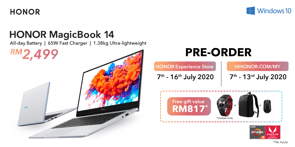 The #HONORMagicBook14 is available for pre-order on 7 JULY with free gifts worth up to RM 817📣📣 This is the moment you've all been waiting for 👉 https://t.co/UDFwbRMpI3 https://t.co/mSenCvXdE5