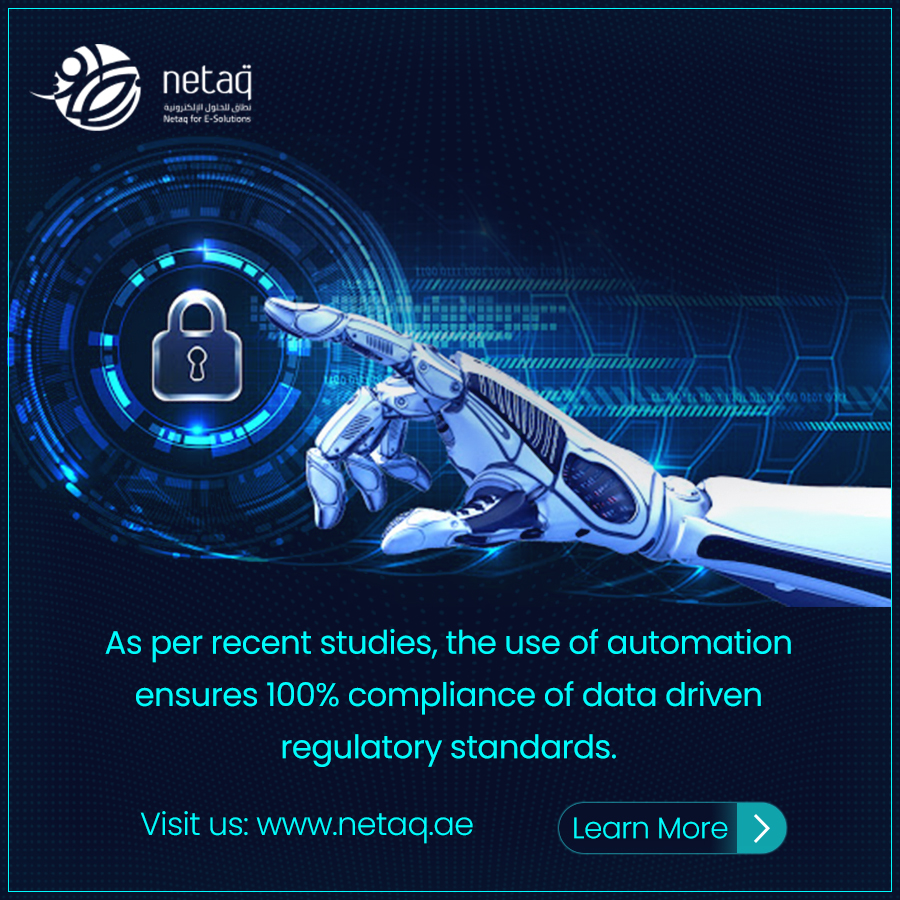 As per recent studies, the use of automation ensures 100% compliance with data-driven regulatory standards.  Call Us: +971 2 885 5666 Mail Us: info@netaq.ae https://bit.ly/2TyYmIn  #netaq #WebDesignCompany #ContentManagementSystems #UAE #SoftwareCompany #ERPSolutions pic.twitter.com/Ne1W1bvTlV