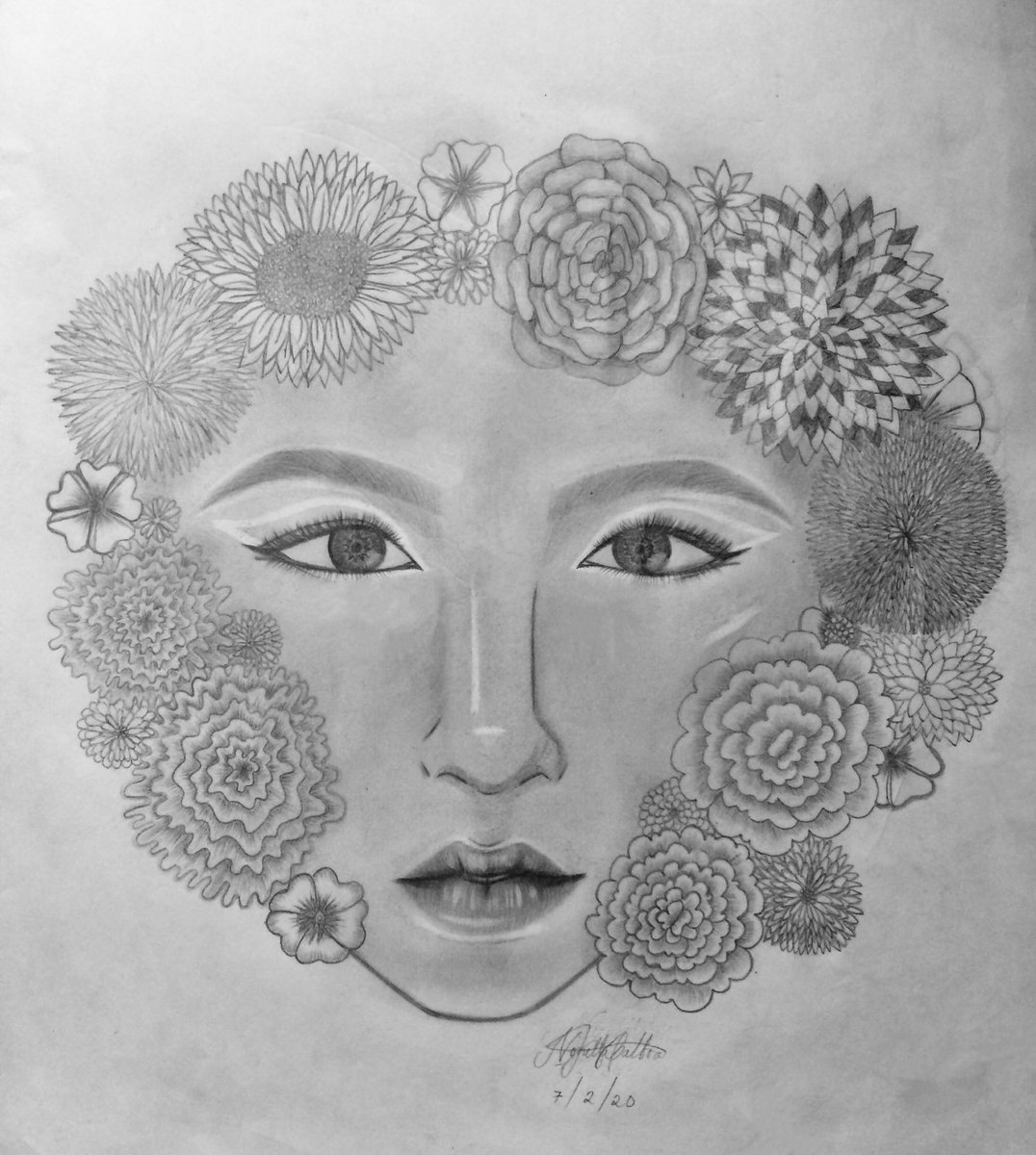 So uhm I did this 'cause I was bored and I'm not sure if you'll like this #art #fineart #illustartion #pencildrawing #artwork #draw #drawing #sketch #drawingsketch #flowers #faceart #sketchbook #drawingoftheday #drawinyourstylepic.twitter.com/pFOxzn4CNX