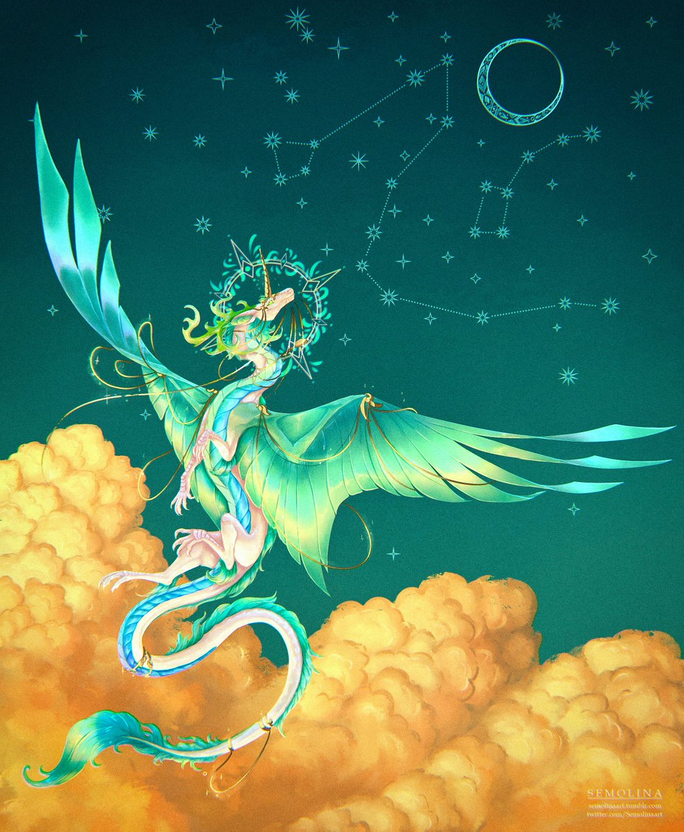Complex style full body commission  #frfanart #flightrising #commission #dragon #imperial #art #clouds #stars pic.twitter.com/R3XkPprgTG