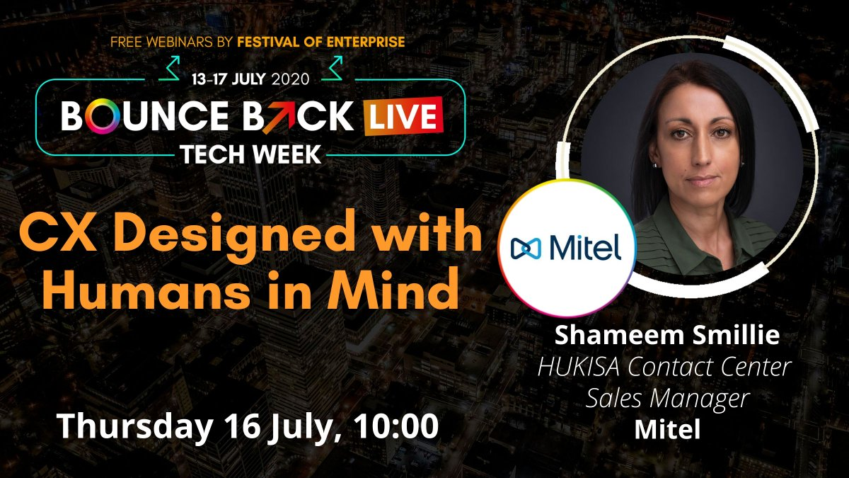 Improve #customerexperience while increasing your employees' productivity, even when they're #workingfromhome. @ShameemSmillie explains how in our #FestivalofEnterprise webinar during #BounceBackLive: https://t.co/XrOHFe4L5u https://t.co/pCpGofRJf8