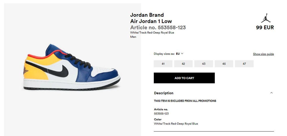 Sneaker Alerts By Frshsneaks On Twitter The Air Jordan 1 Low Track Red Deep Royal Blue Restocked Via Sns Https T Co Rjeg4uao7k