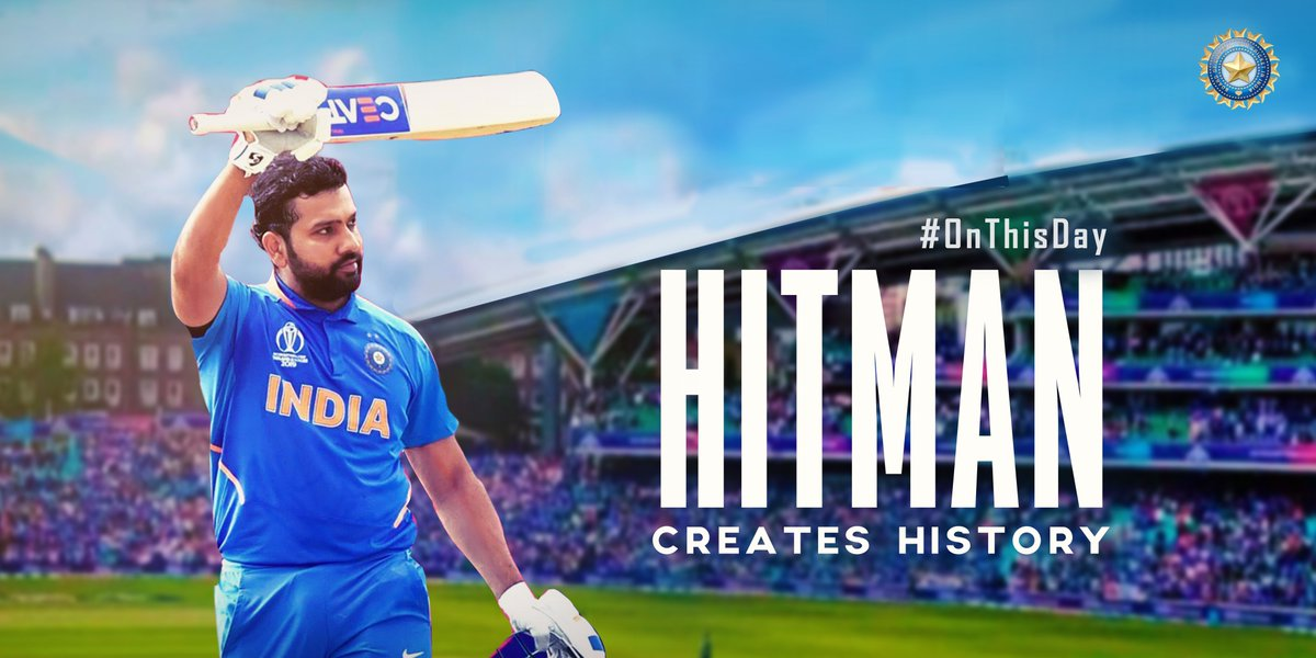 #OnThisDay in 2019  @ImRo45 became the first batsman ever to score 5 ODI centuries in one World Cup. #TeamIndia   His record-breaking feat  122* vs South Africa 140 vs Pakistan 102 vs England 104 vs Bangladesh 103 vs Sri Lanka <br>http://pic.twitter.com/2N1KTpwJt1