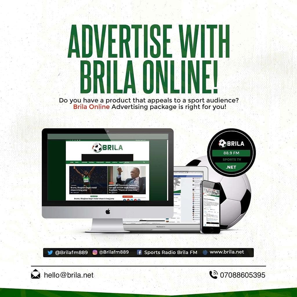 Do you want a brand to direct you closer to your target audience, then advertise with us on our online platforms.  Place your adverts on any of our platforms and we'll do the rest.  #brilafm #brilasports <br>http://pic.twitter.com/J9kh2dRwVB