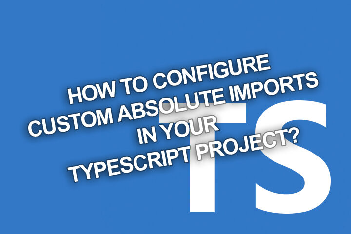 New blog post: Making custom import paths in #Typescript and #JavaScript projects made simple https://blog.piotrnalepa.pl/2020/07/06/how-to-configure-custom-absolute-imports-in-your-typescript-project/… #devlife pic.twitter.com/XyOHYVf6rL