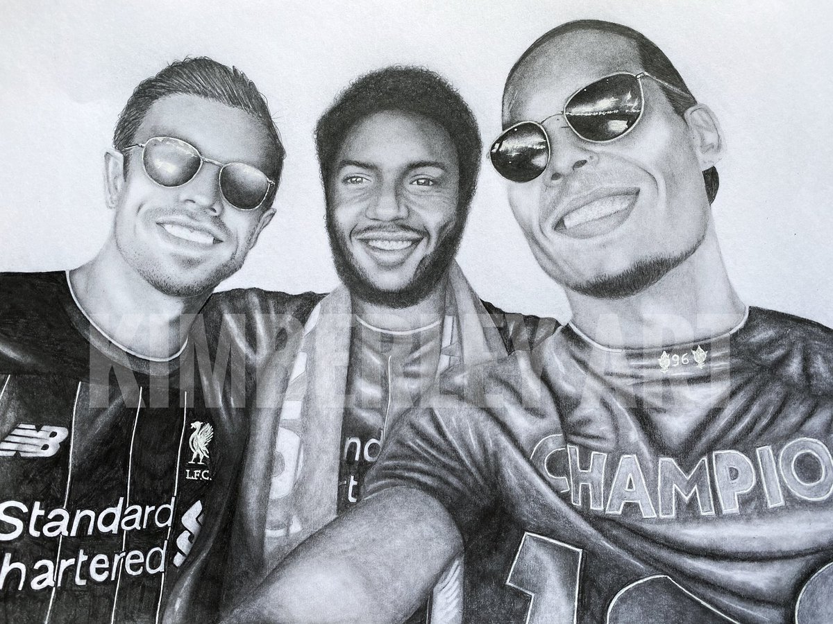 My finished drawing of some champions! 🏆♥️ @LFC @JHenderson @J_Gomez97 @VirgilvDijk https://t.co/e4FIuo5UAU