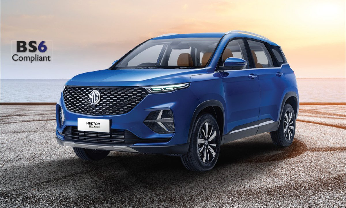MG Hector Plus bookings open for  ₹ 50,000  --Powered by 1.5L turbocharged petrol (141 bhp and 250 Nm)and 2.0-litre turbocharged diesel engines(168 bhp and 350 Nm) -Also available in 1.5 turbo-petrol mild-hybrid engine(6-speed MT) with belt starter generator https://t.co/zpabqySsZV