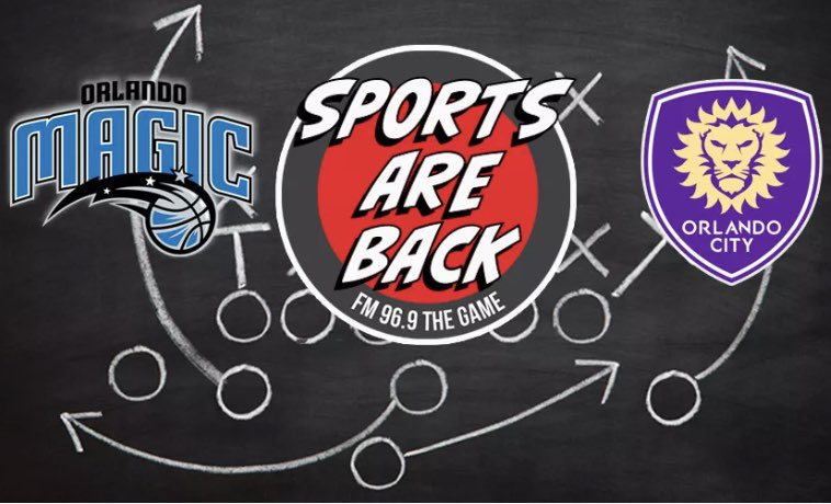 Sports are Back on 96.9 The Game!  @OrlandoCitySC vs @InterMiamiCF on Wednesday July 8th / @OrlandoMagic vs @BrooklynNets on Friday July 31st! #StayTuned #GameOn https://t.co/4mxc10znzO