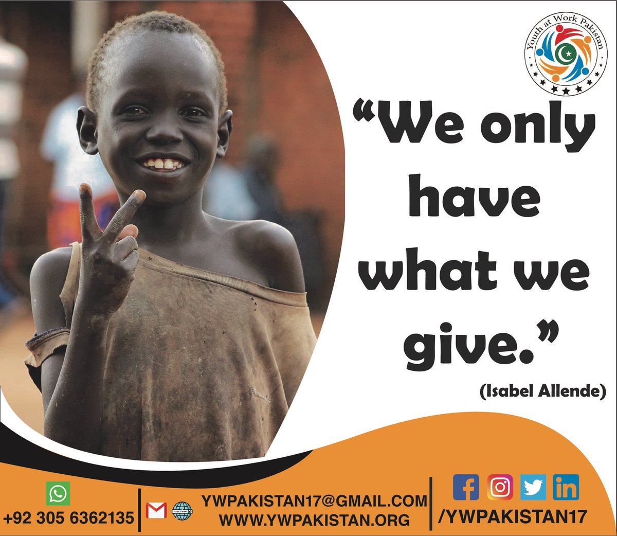 Giving charity is such an important part of Islam. Islam encourages Muslims to help their brothers and sisters, in the form of zakaat or even sadaqah. In these times of hardship, let us come together as a community and offer what we can.  Regards : Team YWP #charity #lslam #youth pic.twitter.com/xS3wrmstdr