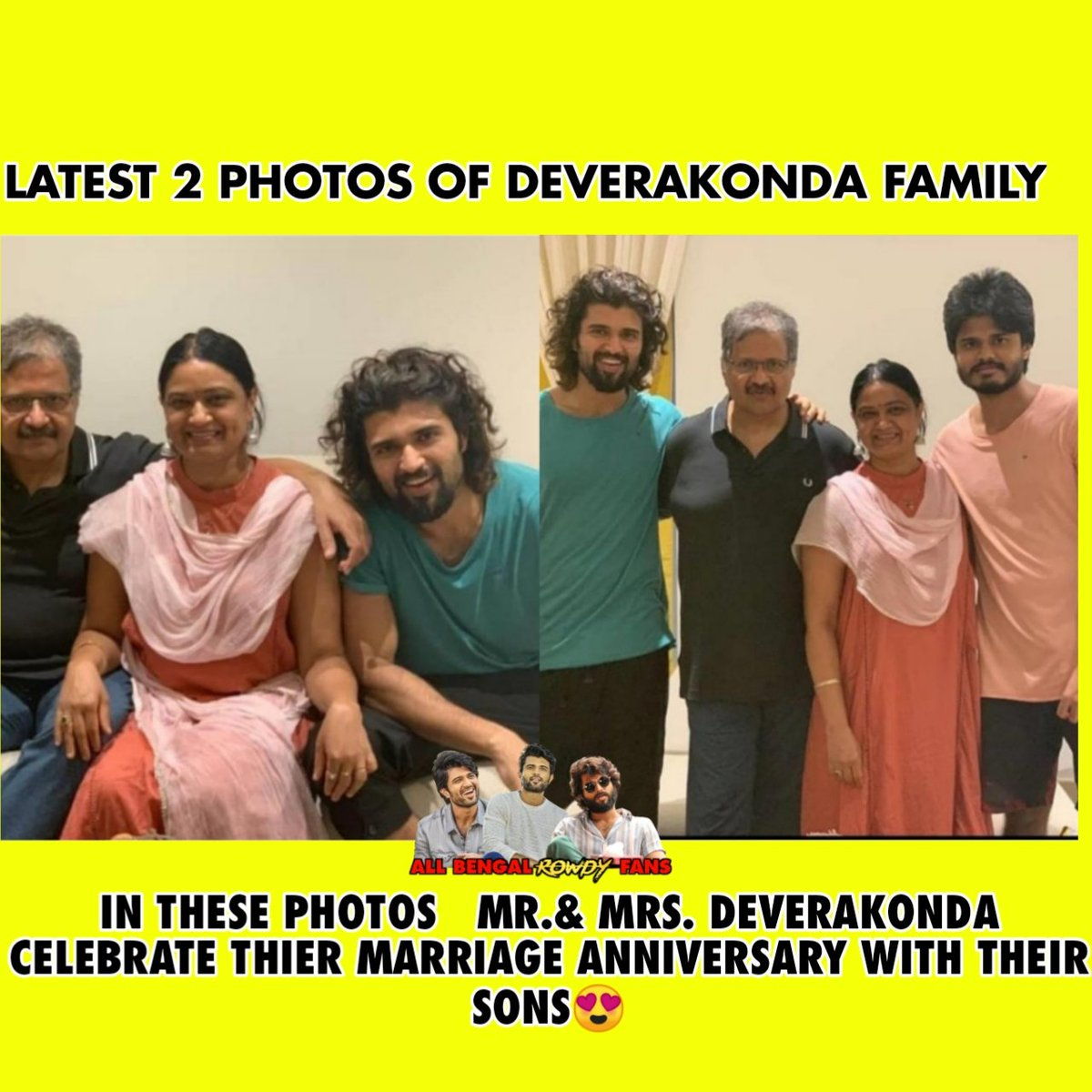 Latest Photos Of The Deverakonda Family #VijayDeverakonda @TheDeverakonda #DeverakondaFamily  Follow Us For More Trending Alert - #DearComradeTrendOnJuly25th pic.twitter.com/Nq1l53WaG4