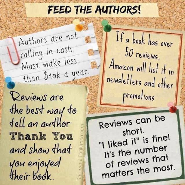 Authors NEED reviews. Whenever you read someone's book, please leave a review. #authors #Review #bookpic.twitter.com/rNx4CPACm6