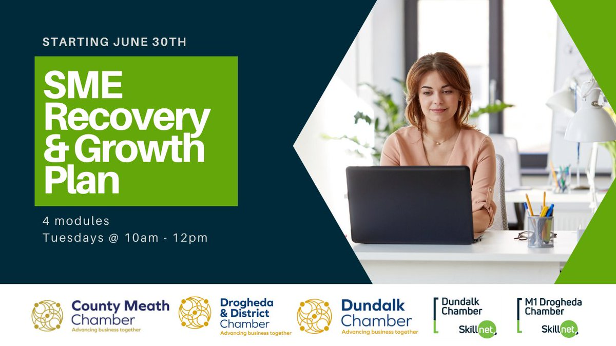 Over 150 attended the FREE SME Recovery & Growth Programme to learn about Strategy, Finance, Creative Thinking & Digital Marketing #PostCovid.  Book Your Place Now!  https://www.eventbrite.ie/e/sme-recovery-growth-plan-webinar-tickets-109790580582…  #LouthChat #SkillnetIreland #SME #businessgrowth #SMEGrowthPlanpic.twitter.com/tOgOAb1OGG