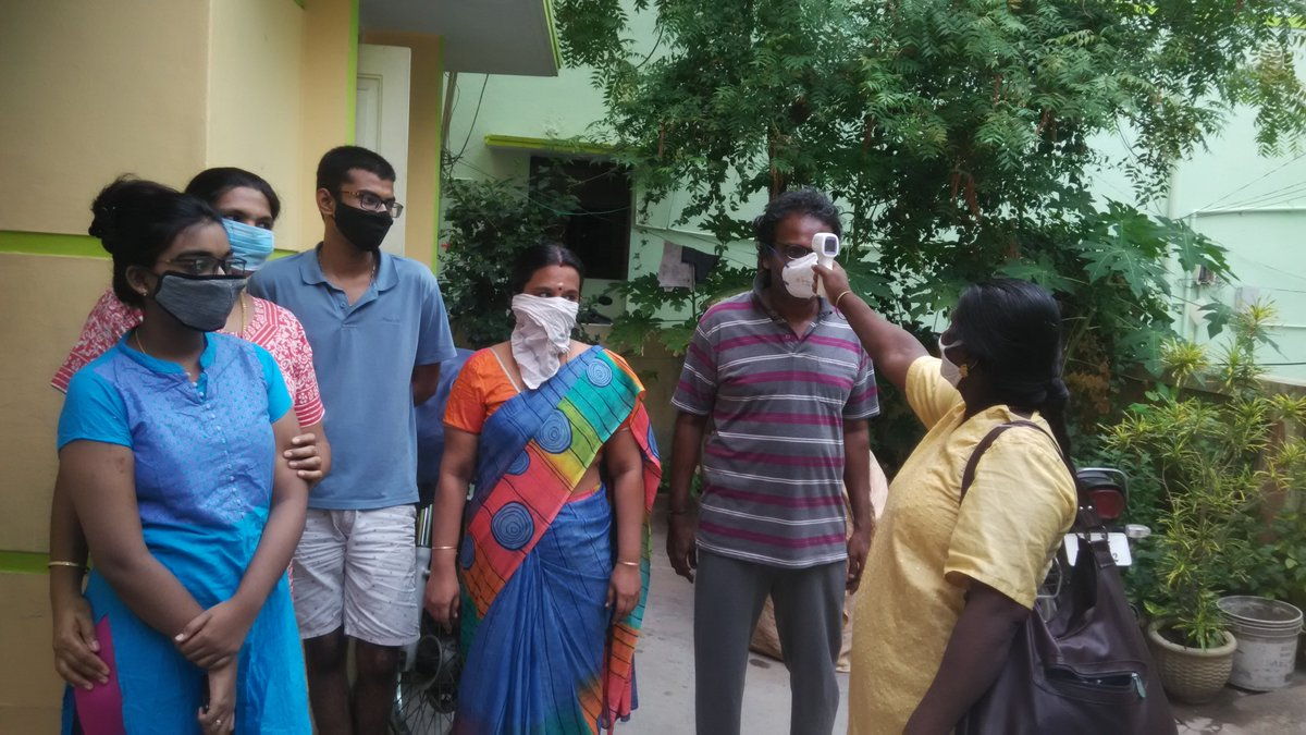 Thanks @chennaicorp @Vijayabaskarofl @CMOTamilNadu   for your effort to control #coronavirus in #chennai.  Thank you Mrs.Thilaga  for you regular checkup at our house in #Mylapore  #StayHome #SafeHands #FaceMask #IndiaFightsCorona #CoronaOutbreak #Unlock1  #COVID19 https://t.co/nY40XVIuHy