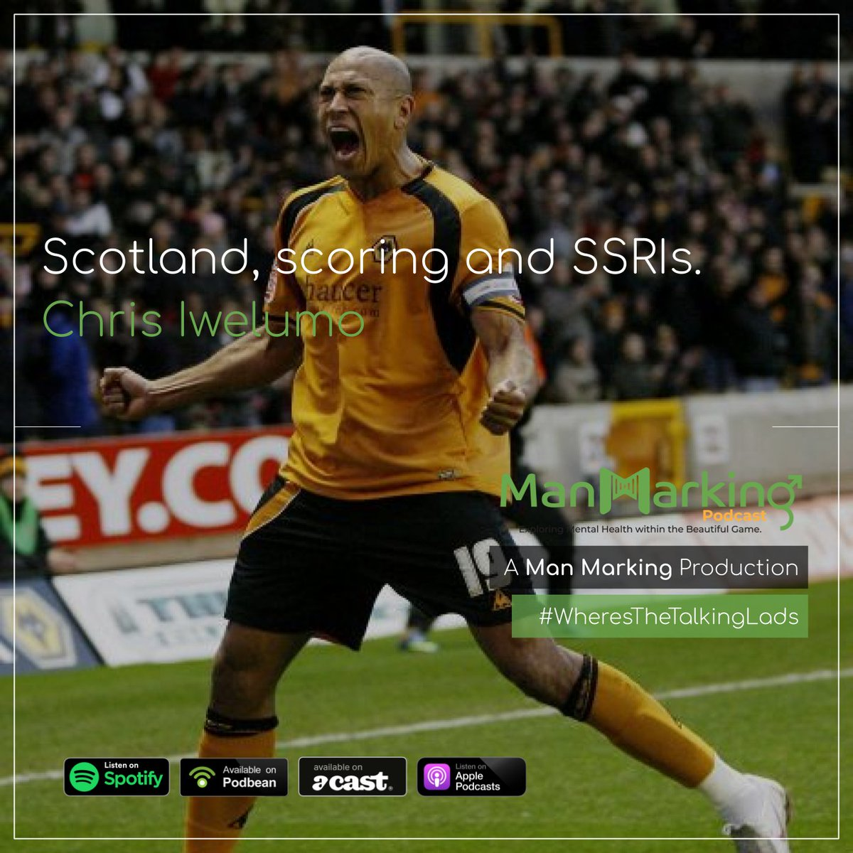 New Episode!! https://podfollow.com/1506661828  We spoke to @chris_iwelumo about his childhood in Glasgow, his brilliant colourful career, as well as a very honest conversation about the time he spent on antidepressants whilst playing for Watford.   #WheresTheTalkingLadspic.twitter.com/orP2gTZ58j