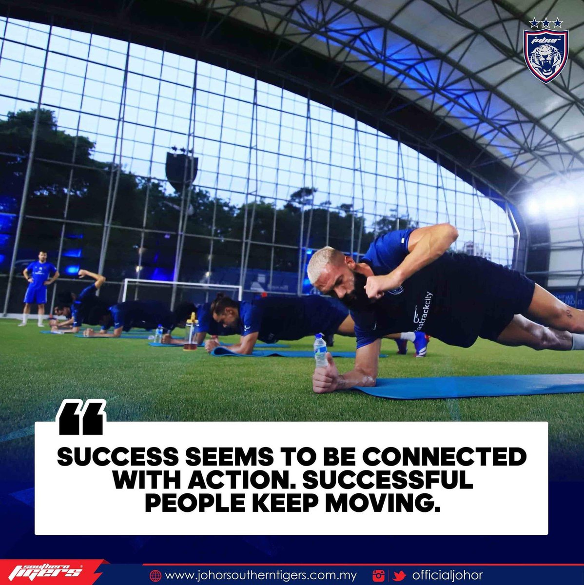 Success seems to be connected with action. Successful people keep moving.  Hidup Johor Demi Johor #HarimauSelatan #SouthernTigers #PermataSelatan #JewelOfTheSouth #JDTuntukSemua #JDTforAllpic.twitter.com/nd7Fc6DBOm