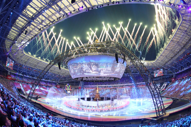 July , , marked the start of the the XXVII #Summer #Universiade in #Kazan, #Russia. Over 10,400 #university #athletes from 162 countries participated in 27 #sports, making the 2013 Universiade the biggest in the history of the event  pic.twitter.com/Nxe0C7czPM