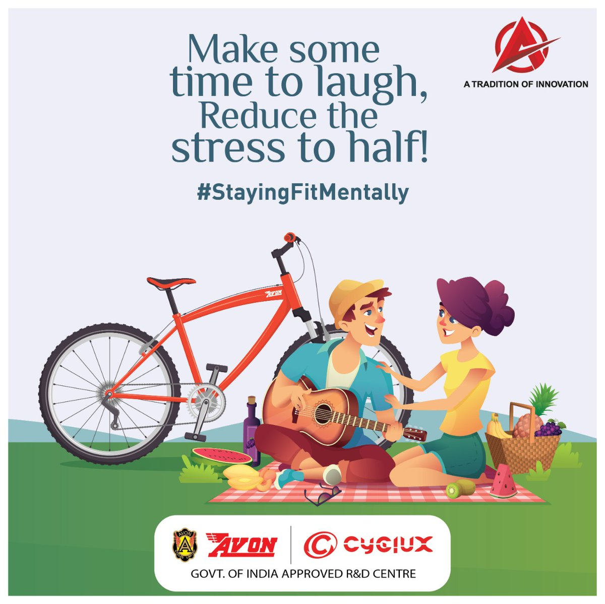 Laughing has proven to reduce the stress to a great extent and can divert your mind from negative thoughts and thus, help you in bettering your #mentalhealth. #Avoncycles #Adventures #cyclux #RideTheFuture #VocalForLocal #cyclemarket #Health #Mentalhealth  #StayingFitMentally https://t.co/k1sqRhYiwm