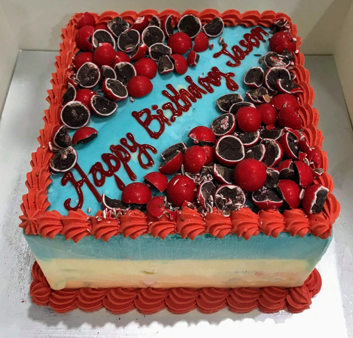 Ice Cream cake by Cold Rock Aspley. Call us on 0417 115 707 to place your order. #brisbane #coldrock #fridays #dessert #weddingcake #food #chocolate  #party #love #happybirthday #cake #celebrate #happy #drawing #relationships #icecreamcake https://t.co/67dP8q113I