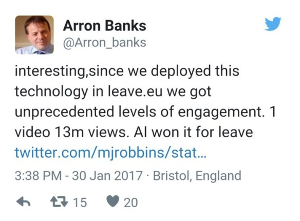 Without Mercer & Bannon there would be no Cambridge A & we would have remained. They helped to rig it. As Arron Banks said- AI won it for leave. Military grade Psyops = Weapons Grade Electoral Fraud #arronbanksleaks twitter.com/nickreeves9876…