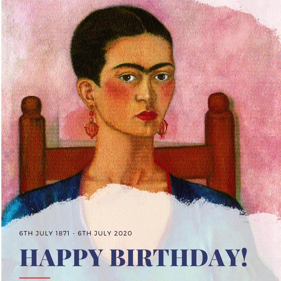 Happy birthday to Kahlo.  #birthday #happybirthday #6thJuly #Kahlo #FridaKahlo #mexicanartist #femaleartist #famousartist #inspiredart #quotes #inspiredquotes #ParkstoneInternational #artpublisher #artbooks #arthistory #arte https://t.co/izlpnsh4lH