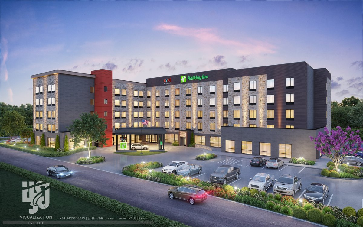 Elegant Commercial Structures Exterior 3D View for #HOLIDAYINN  #CommercialExterior #DuskView #HOTELELEVATIONDESIGN #ATTRACTIVE #COMMERCIAL #ARCHITECTURE #EntranceDesign #CommercialVisuals  #3DVisuals #HotelExterior #StaySafe #stayhome https://t.co/oAWb0lXbej