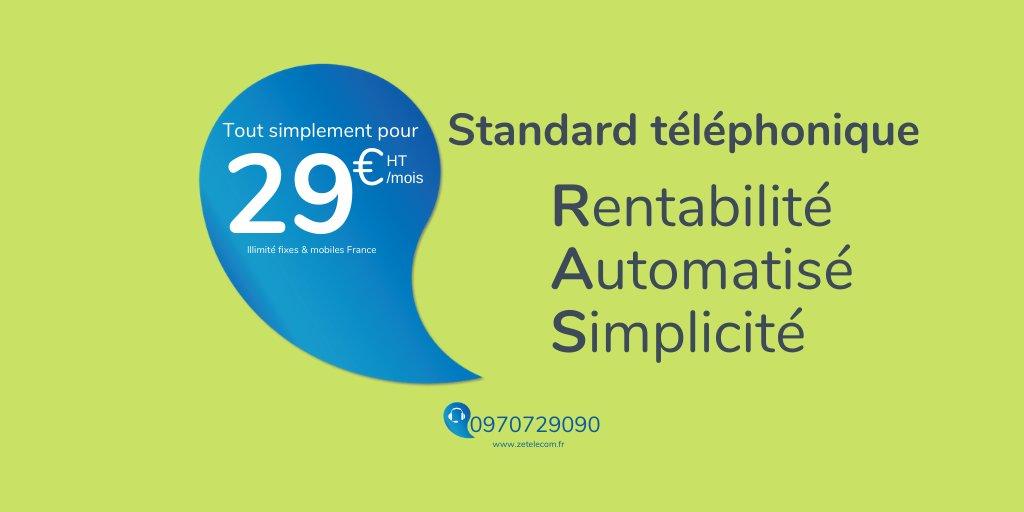 Standard téléphonique en illimité vers les fixe et mobile en France inclus. SVI inclus. Alors que dire de plus.... #RAS #IP #Standardtelephonique #telephonie #b2b https://t.co/X6B0eAsKBo