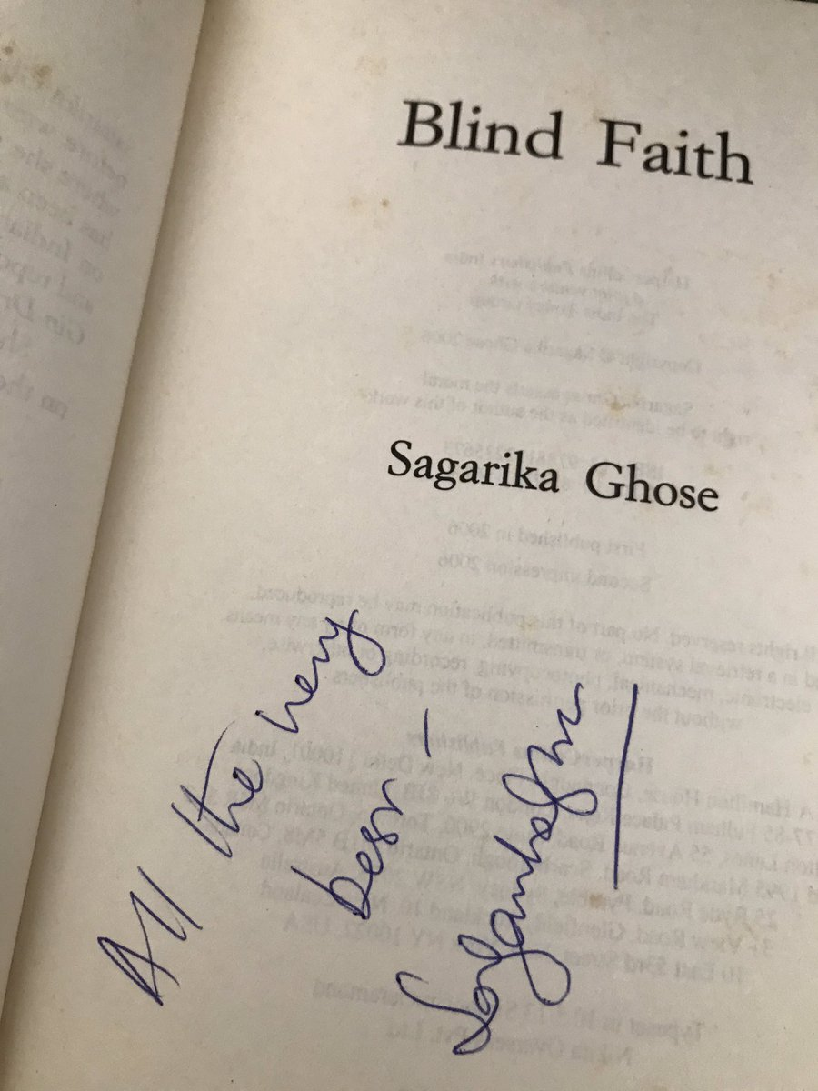 @sagarikaghose @UniofOxford That's an incredibly young age to start a novel like The Gin Drinkers. You moderated a session at the launch of Flood Of Fire in 2015, and I remember @GhoshAmitav spoke highly of both The Gin Drinkers and Blind Faith. https://t.co/mEfnCllogK