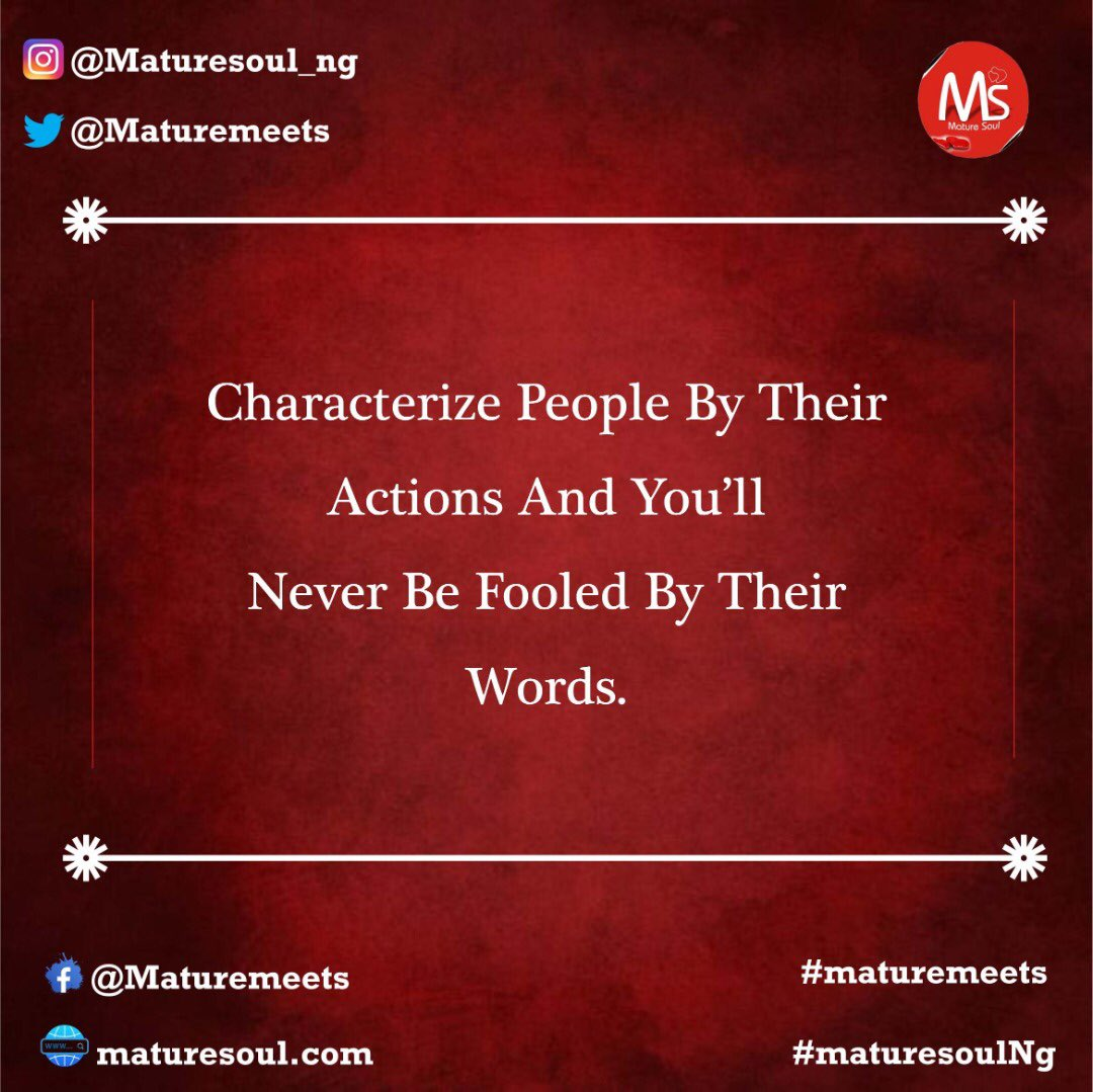 Action speaks louder than words. Do not be fooled by sweet talk.  #facts #maturemeets #friends #relationships #advice https://t.co/kc3GiasCmW