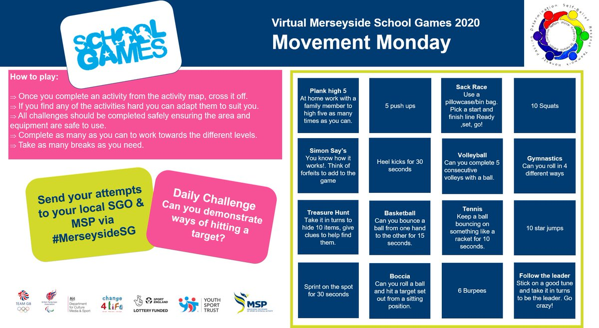#MerseysideSG Day 1: Movement Monday ... Let's get moving, Raeburn!! @WirralSG