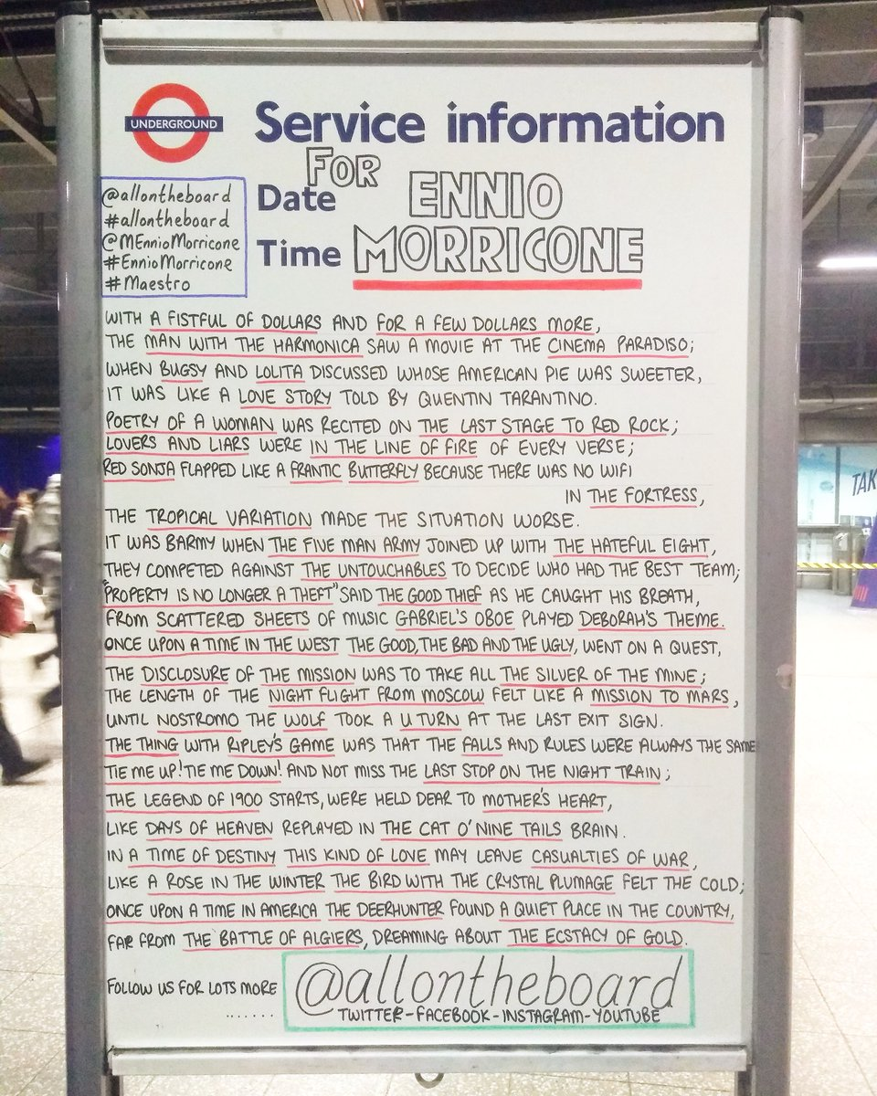 RIP Ennio Morricone. Thank you for being you and for all your beautiful music. Thoughts & prayers to your family, friends & your fans across the world.  Love @allontheboard   #RIPEnnioMorricone #EnnioMorricone #Maestro  #OnceUponaTimeInTheWest #TheMisson #ripennio #allontheboard https://t.co/LJC5gQJZTe