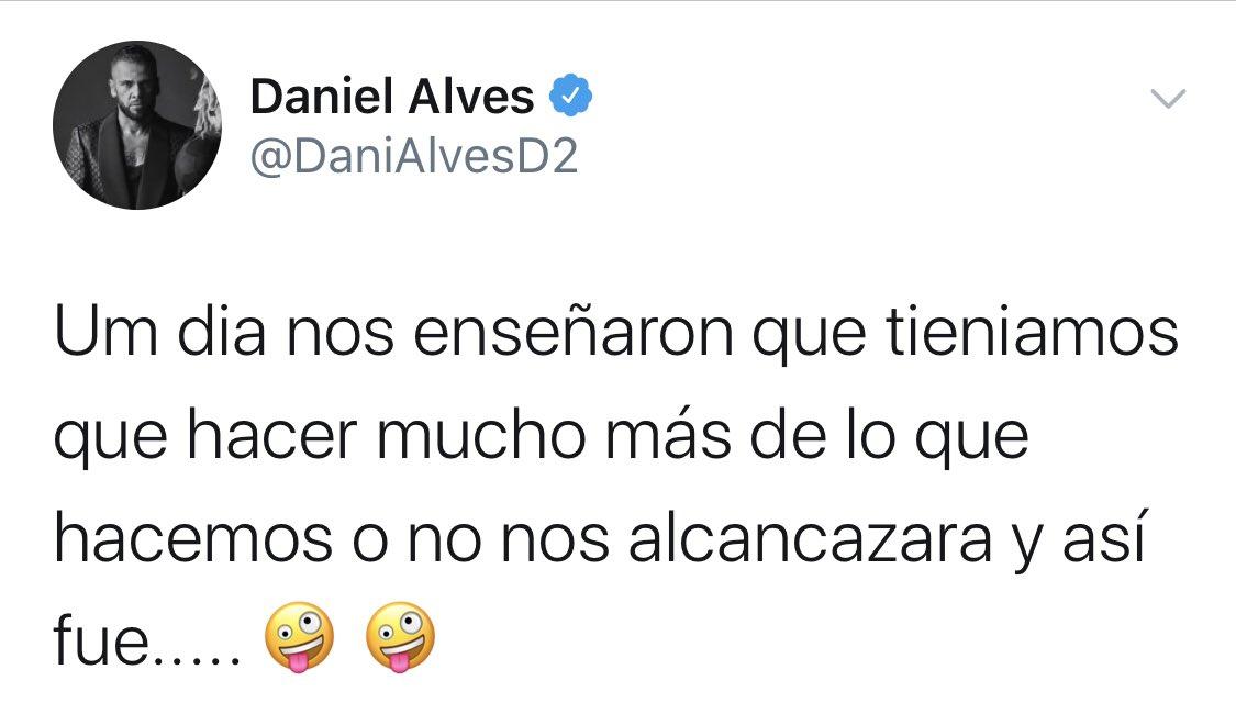"""🔥 MÁS LEÑA AL FUEGO🔥@DaniAlvesD2, sobre los arbitrajes al Madrid:   """"Nos enseñaron que teníamos que hacer mucho más de lo que hacemos o no nos alcancaría y así fue"""". https://t.co/8Y6HPhYGOB"""