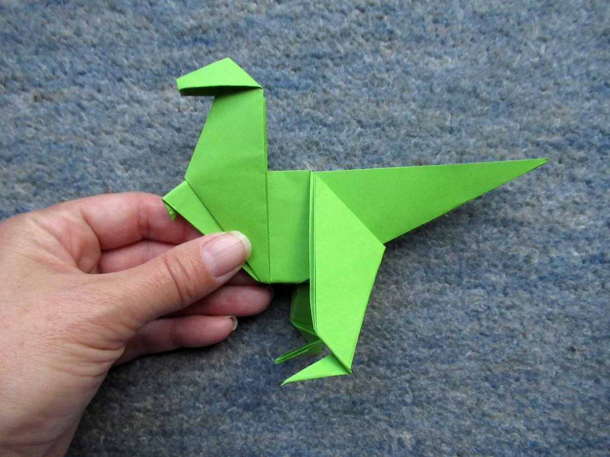 Origami Dinosaurs, a list of online, origami-dinosaur diagrams ... | 900x1200