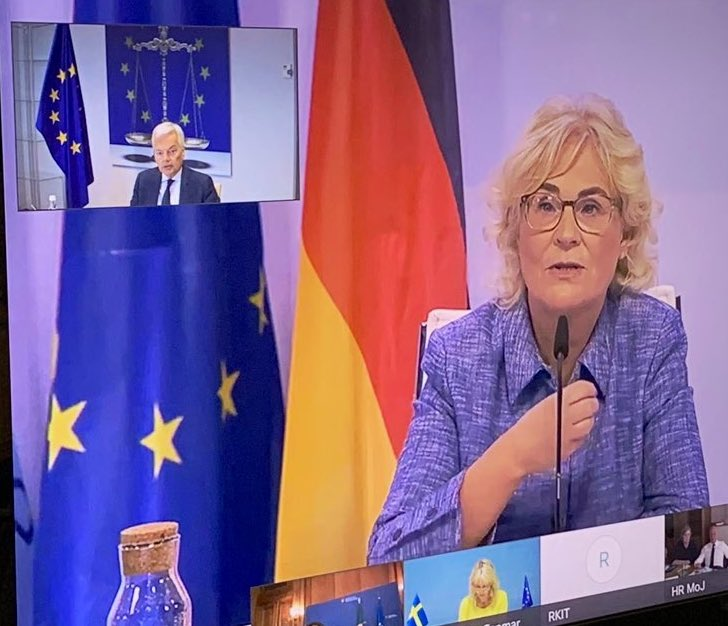 🇪🇺 Justice policies are an essential part of #coronavirus recovery plan and this needs to be reflected in their funding. Furthermore, #EPPO will play a key role in protecting the #EUbudget and the new Recovery Fund. #EU2020DE @BMJV_Bund #JHA https://t.co/OR96slYVu0
