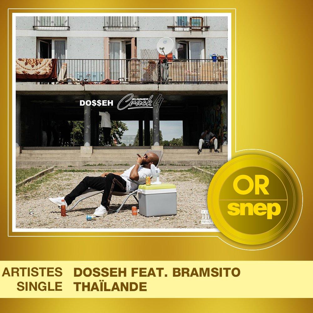 """Le titre """"Thaïlande"""" de Dosseh feat. Bramsito est certifié Single Or ! 📀  15 000 000 équivalents streams 🎧  Bravo ! 👏 https://t.co/D33mYreS0U"""