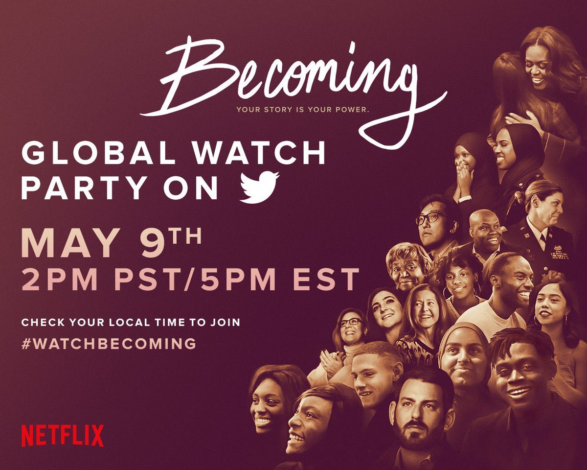 @Beyonce When we share honestly about our own experiences, we invite others to do the same. The connections we build in these moments of vulnerability are so powerful and so healing.  Tonight at 5pm ET, I hope you'll join me for the BECOMING watch party. #WatchBecoming