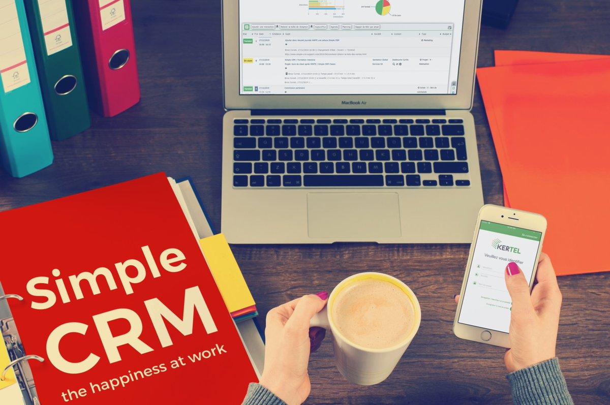 """RT SIMPLE_CRM """"Et si, en un clic, vos appels téléphoniques étaient lancés et que votre CRM prenait note, à la voix, du résumé de votre conversation ? Simple CRM + VOIP Kertel: https://t.co/6JKuVtu539 #CRM #SimpleCRM #VOIP #téléphonie #Kertel #SIMPL https://t.co/Nl1oR6BTqS"""""""