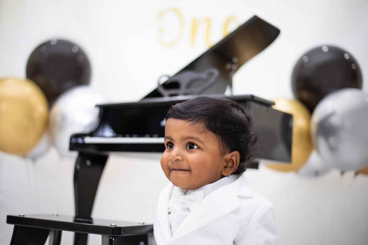 Pretend to think hard when the teacher is looking at you.   #thulzphotography #cakesmash #baby #kid #birthday #photoshoot #piano #stayhome #smart #cute #happy